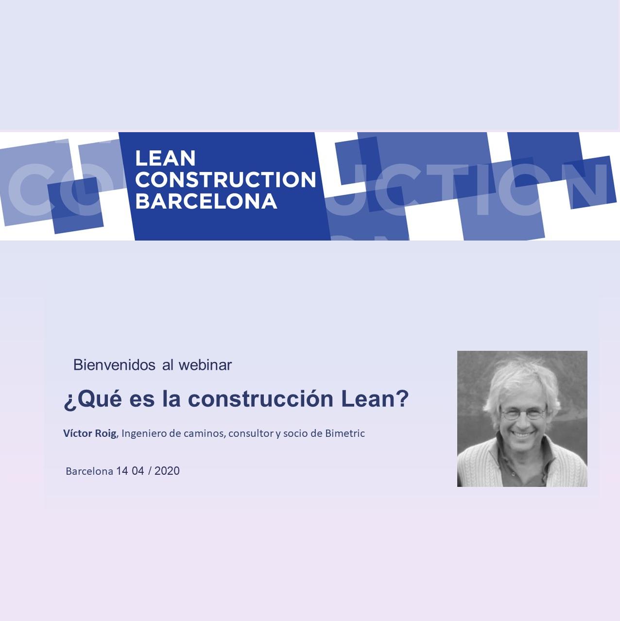 Webinar ¿Qué es la contrucción Lean?
