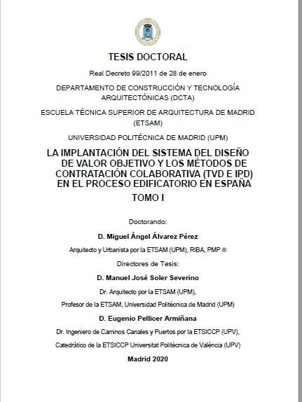 Tesis doctoral: Miguel Ángel Álvarez Pérez